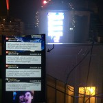 Projection d'un live-tweet au coeur de la terrasse