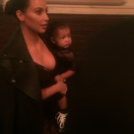 Kardashian et sa fille North West