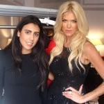 designer Joelle Flora and model Victoria Silvstedt