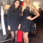 Designer Joelle Flora and model Victoria Silvstedt in Paris