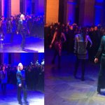 Balmaination main dancers in Paris for the Balmain x H&M pre-sale party