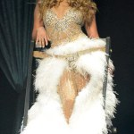 Jennifer Lopez en Zuhair Murad lors de son 'Dance Again' world tour