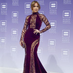 Jennifer Lopez lors du HRC national dinner à Washington en Zuhair Murad.
