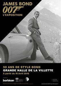 Affiche exposition James Bond à Paris, avril 2016