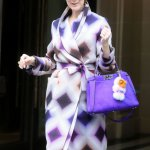 Celine Dion en tenue FENDI lors de la fashion week parisienne