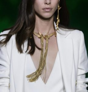 Collier Elie Saab collection printemps été 2018 #PFW