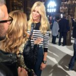 Le top model Claudia Schiffer au défilé BALMAIN à Paris durant la semaine de la mode collection printemps été 2018 #PFW