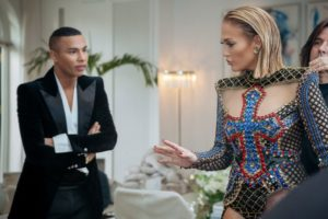 Jennifer Lopez et Olivier Rousteing, quelques heures avant le MET Gala à New York, Photo Courtesy of David Garcia